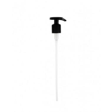 Пластмассовый насос-дозатор для фл. 28/415. черный 1 литр