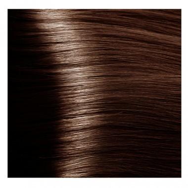 NA 6.35 темный янтарно-каштановый блонд, крем-краска для волос с кератином «Non Ammonia», 100 мл