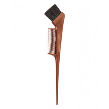 Кисть с расческой для окрашивания волос (бронзовая)