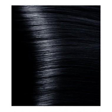 NA 1.1 иссиня- черный, крем-краска для волос с кератином «Non Ammonia», 100 мл